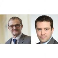 De gauche à droite :  Franck Mazin, le président de Sodifrance, et Yoann Hébert, son homologue chez Netapsys.