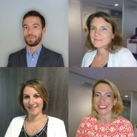 David Clarys (haut gauche), Magali Vintousky (haut droite), Patricia Mazzanti (bas gauche) et Marine Lopes sont les nouveaux BU Managers d'Exclusive Networks France.