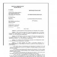 Une décision du Tribunal administratif de Montreuil a annulé l'arrêté d'autorisation d'exploitation du datacenter d'Interxion à La Courneuve. (en illustration, la lecture du jugement).