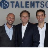 Jean-Stéphane Arcis, PDG de Talentsoft, au centre), Alexandre Pachulski (à gauche), et Joël Bentolila (à droite) , co-fondateurs comptent sur la levée de 25 millions de dollars pour booster la R&D et recruter 120 collaborateurs. (crédit : D.R.)