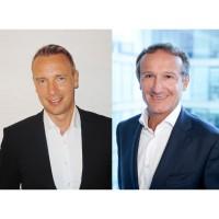 Patric Berger (à gauche), le  dirigeant d'Infinigate France et Yves Rochereau, le directeur général de CheckPoint France.