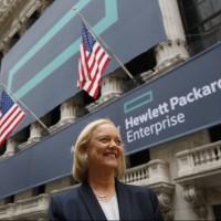 Basé sur ses serveurs Proliant, le système hyperconvergé de HPE pourra s'installer en quelques minutes, selon Meg Whitman, CEO de la société. (crédit : Eric Draper/HP Enterprise)