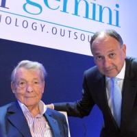 Serge Kempf (à gauche) a cédé les rênes de l'empire Capgemini qu'il a fondé 45 ans plus tôt à Paul Hermelin en 2012. (Crédit D.R)