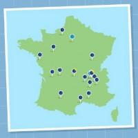 La carte actuelle des magasins LDLC et  des ouvertures programmées en France. Illustration : D.R