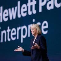 Il semble que Meg Whitman, CEO de Hewlett Packard Entreprise, qui a déjà considérablement réduit la voilure de son groupe, chercherait à l'alléger encore, peut-être pour le vendre à des fonds privés. (crédit : D.R.)