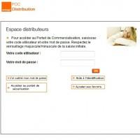 La page d'authentification du POCD d'Orange devenue désormais infranchissable pour les clients d'Also et de Tech Data.