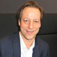 Jean-Noël de Galzain, président d'Hexatrust sur le FIC 2017 mercredi 25 janvier. (crédit : Dominique Filippone)