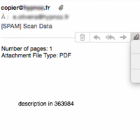 Vade Secure a lancé une alerte suite à une campagne de spams visant particulièrement les entreprises françaises. (crédit : Vade Secure)