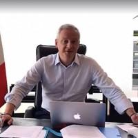 Bruno Le Maire, ministre de l'Economie et des Finances, n'accepte pas que les GAFA continuent à faire des bénéfices importants en Europe sans contribuer à l'impôt de façon équitable. (ci-dessus lors de son Facebook Live le 27 août 2017. crédit : D.R.)