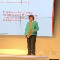 Ginger Finnegan, directrice de la planification au Sharp Laboratories of America, déborde de projets pour relancer la compagnie sur fond de transformation numérique. (Crédit S.L.)