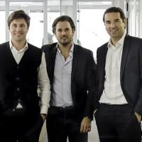Les cofondateurs d'Oodrive, Cédric Mermilliod (à gauche), Stanislas de Rémur (au milieu) et Edouard de Rémur (à droite) prévoient un autre rachat en Allemagne. (Crédit : D.R.)