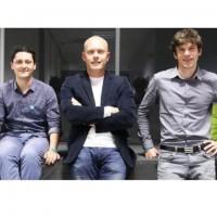 Les dirigeants de Yousign : Luc Pallavidino (PDG), Eric Chevalier (directeur général) et Antoine Louiset (directeur technique). crédit : D.R.