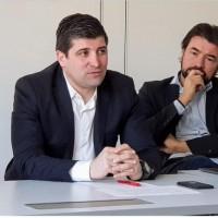 De gauche à droite, l'un des co-présidents de FTCA Cédric Messina (My Coach) et Olivier Ricard (360&1) vice-président du territoire niçois. (crédit. FTCA)