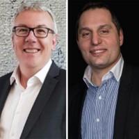 Avant de rejoindre Visiativ, Pascal Bottet (à gauche) était directeur de la filiale française de Cadenas. Vincent Coelho (à droite), lui, était directeur des comptes liés au retail chez Cegid. (Crédit : Visiativ)