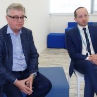 Janusz Filipiak, CEO de l'éditeur polonais Comarch, et Arkadiusz Iłgowski, DG de la filiale française, lors de l'inauguration du datacenter de Lézennes le 20 mars 2018. (crédit : LMI/MG)