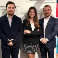 Thibault Magne (responsable produit), Alexandra Bejan (responsable marketing) et Marcos de Santiago (responsable France et Europe du Sud), au dernier salon IT Partners. (Crédit D.R.)