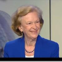 Nicole Fontaine, ancienne présidente du Parlement européen, lors d'une interview sur France24, Ici l'Europe, le 17 juillet 2017. (Crédit : France24)