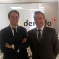 Propulsé à la tête de l'activité EMEA de Denodo en tant que directeur régional, Olivier Tijou (à gauche) est chargé de doper le business et d'étendre le réseau de partenaires de la société dirigée par Angel Viña (à droite), CEO. (crédit : D.F.)
