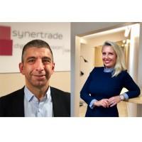 Patrick Samama et Anne Tesssier-Chênebeau viennent renouveler la direction française de l'éditeur SynerTrade. (Crédit : SynerTrade)