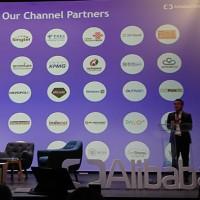 Alibaba Cloud tenait son Ecosystem Summit européen à la Station F, à Paris, en présence de son DG EMEA, Yeming Wang. (Crédit : Nicolas Certes)