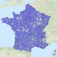 La couverture réseau IoT LoRa d'Objenious en France date de janvier 2017 sur le site du fournisseur. (crédit : D.R.)