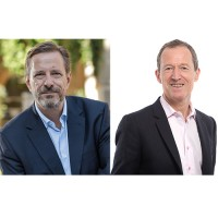 Thierry Ganter (à gauche), président du groupe Médiane-Axège, et Bruno Weber, président d'Admilia, co-dirigeront la nouvelle entité. (Crédit : Médiane)