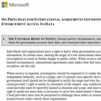 Le droit universel pour un utilisateur à être prévenu quand un gouvernement veut accéder à ses données est le 1er des 6 principes de base énoncés par Microsoft. (Crédit : MS)