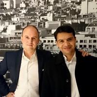 Mohit Aron, CEO et fondateur de Cohesity (à droite), a réalisé une tournée de ses bureaux européens avec son directeur Europe du Sud, Rodolphe Barnault, avant de se rendre au salon VMworld où les chiffres de l'activité européenne ont été annoncés. (Crédit : Nicolas Certes)