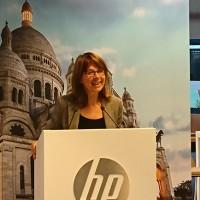 A l'occasion de l'inauguration du nouveau siège français de HP à Meudon, Pascale Dumas en a profité pour faire un point stratégique sur les objectifs du groupe pour l'année prochaine. (Crédit : Nicolas Certes)