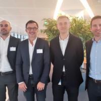 Claranet et Microsoft associent leurs expertises sur les technologies IaaS, PaaS, big data et IoT notamment. Ci-dessus, au centre, Carlo Purassanta, président de Microsoft France, et Olivier Beaudet, DG de Claranet France.
