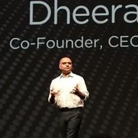 « Nous souhaitons donc construire un réseau de clouds, plus mobile, plus malléable, etc. en fonction des besoins de chaque entreprise » a déclaré le co-fondateur, CEO et chairman de Nutanix, Dheeraj Pandey. (Crédit : Nicolas Certes)