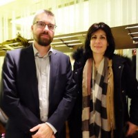 Denis Fraval, responsable ventes et ingénierie EMEA de Cloudera, et Sandrine Tarnaud, directrice des ventes de la filiale française. (Crédit : LMI)