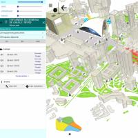 A la Défense, l'Hypervision de Vinci Energies propose une modélisation 3D du quartier. La gestion des différents systèmes permet une très bonne réactivité en cas d'incidents mineurs ou majeurs. (Crédit : Vinci Energies)