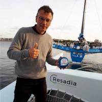 Le prototype de Wefeel a été éprouvé sur le voilier Resadia de Pierrick Tollemer lors de la Route du Rhum 2018. (Crédit : Scopelec)
