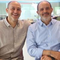 Les deux co-fondateurs de Linkbynet, Patrick et Stéphane Aisenberg - respectivement directeur général et président. (Crédit : C.R.)