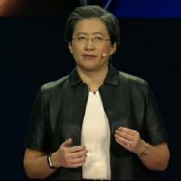 Lisa Su, CEO d'AMD, lors du CES. (Crédit : AMD)