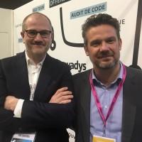 Jean-François Aliotti (à g.) et Olivier Pantaléo ancien dirigeants de GroupXP et MPGroup (respectivement), ont choisi le rapprochement entre leurs deux groupes pour donner naissance à Hifield. (Crédit : Hifield)