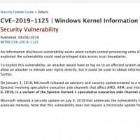 Hier, Microsoft a averti qu'une nouvelle faille de divulgation d'informations existait lorsque certains CPU accédaient de manière spéculative à la mémoire. (Crédit : Microsoft)