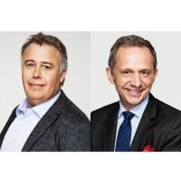 Dion Weisler (à gauche) cède son siège de président et CEO de HP à Enrique Lores. (Crédit : HP)