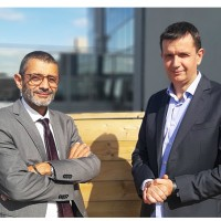 Pierre Gauthier, PDG Apside (à gauche) et Pierre Guimard, associé fondateur de Keley Consulting. (Crédit : Apside)