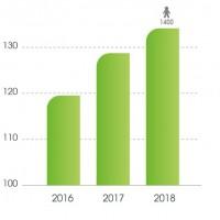 Évolution et répartition du chiffre d'affaires annuel d'ITS Group. Illustration : D.R.