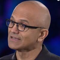 Nouvelle victoire pour Satya Nadella, CEO de Microsoft, après avoir déjà décroché un contrat de 7,6 Md$ avec le DoD cet été. Ci-dessus sur la conférence Inspire en juillet 2019. (Crédit : Microsoft)