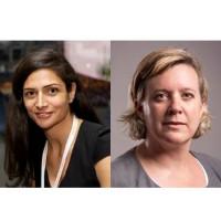 Avant de rejoindre Microsoft, Nadine Yahchouchi (à gauche), était directrice marketing EMEA chez Criteo et Sophie Pietremont assurait les mêmes fonctions pour la France chez VMware. (Crédit : Microsoft)