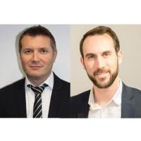 Chez SPIE ICS, Jérôme Beaufils (à gauche) devient directeur du développement commercial et de la stratégie. Quentin Bechelli prend lui la direction des activités Ile-de-France. (Crédit : D.R.)