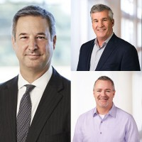 Les fonctions de Marius Haas (à gauche) chez Dell Technologies seront réparties entre Bill Scannell (en haut) et Jeff Clark. (Crédit : Dell)