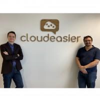 Aymeric Thas-Pinot et Sébastien Pauset travaillaient chez Linkbynet avant de fonder Cloudeasier. (Crédit : Cloudeasier)