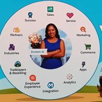 Avec tous ses clouds et autres fonctionnalités, Salesforce entend fournir, à termes, une vision à 360° du clients aux entreprises utilisant son CRM. (Crédit : Salesforce)
