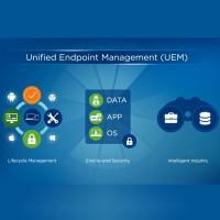 La solution Workspace ONE Unified Endpoint Management (UEM) basée sur la technologie AirWatch de VMware a été placée en tête des solution EMM du marché. (Crédit : VMware)