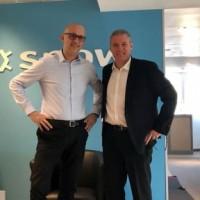 Hervé Le Fell (à gauche) et Emmanuel Dubois, respectivement DG et Directeur channel de Snow Software pour la France et la péninsule ibérique. Crédit photo : Snow Software