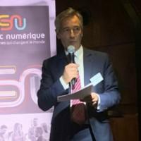 Godefroy de Bentzmann, président de Syntec Numérique, veut faire de 2020 l'année d'un numérique plus inclusif, plus éthique et plus responsable. (Crédit : Syntec Numérique)